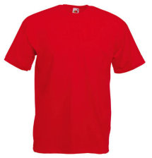Fruit of the Loom T-Shirt Value Weight, rot