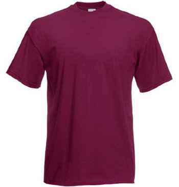Fruit of the Loom T-Shirt Value Weight, burgund