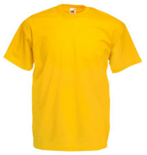 Fruit of the Loom T-Shirt Value Weight, sonne