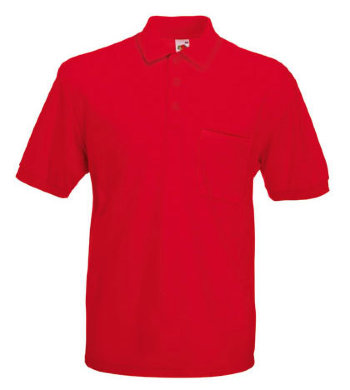 Fruit of the Loom Polo 65/35 Pocket, rot