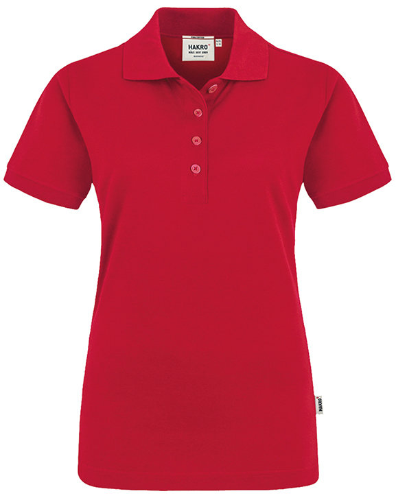 HAKRO Premium Damen Polo 201 Pima-Cotton, rot